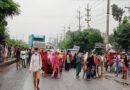 গাজীপুরে মহাসড়ক অবরোধ করে পোশাক শ্রমিকদের বিক্ষোভ